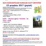 XLVII Ogólnopolski Dukielski Zlot Turystów 15.09.2017