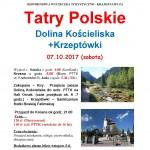 Tatry Polskie Dolina Kościeliska 07.10.2017