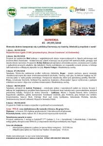 Słowenia 05-09-.09.2018