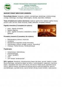 Bazowy Pakiet Medyczny- Truskawiec