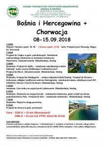 Bośnia i Hercegowina+Chorwacja 8-15.09.2018r.