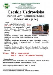 Czeskie Uzdrowiska 23-26.08.2018