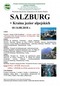 SALZBURG + Kraina jezior alpejskich 10-14.08.2018