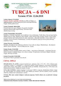 Turcja 07.04-12.04.2018