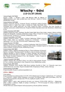 Włochy 9 dni 13-21.07.2018