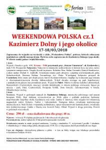 Weekendowa Polska - Kazimierz Dolny 17-18.03.2018