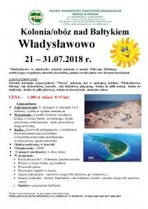 21-31.07.2018r. Kolonia nad Bałtykiem- Władysławowo