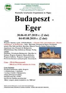 Budapeszt Eger 30.06-01.07 i 04-05.08. 2018