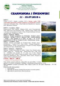 Czarnohora i Świdowiec 11-15.07.2018