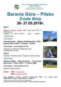 Barania Góra - Pilsko 26-27.05.2018