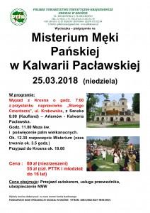 Misterium Męki Pańskiej w Kalwarii Pacławskiej 25.03.2018