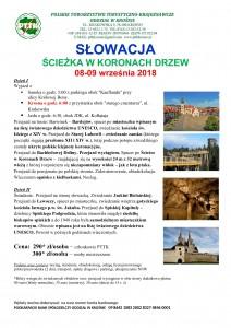 Słowacja - Ścieżka w koronach drzew 8-9.09.2018