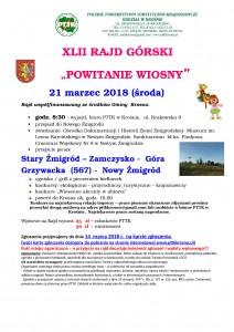 XLII_Rajd_G_rski_Powitanie_Wiosny_21_03_18_-plakat