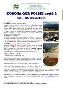 Korona Gór Polski cz 2 03-05.08.2018