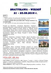 Wiedeń - Bratysława 21-23.09.2018