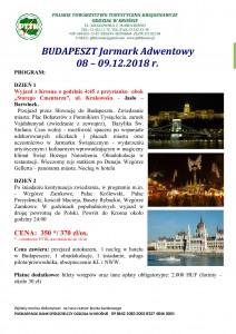 Budapeszt Jarmark Adwentowy 08-09.12.2018