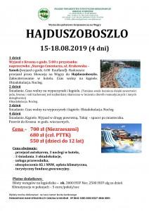 Hajduszoboszlo 15-18.08.2019r.