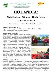 Holandia- najpiękniejszy ogród świata 11.04-15.04.2019r. str. 1