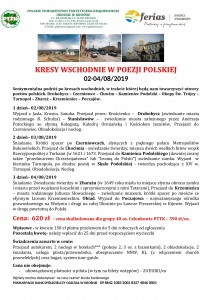Kresy Wschodnie w poezji polskiej 02-04.08.2019