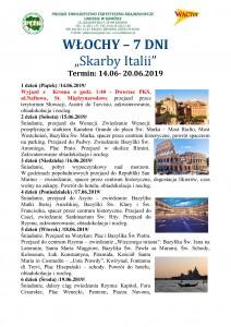 Włochy Skarby Itali 14.06-20.06.2019r. str 1