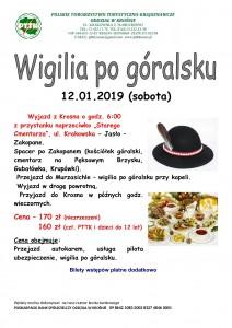 Wigilia po góralsku 12.01.2019