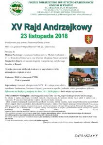 XV Rajd Andrzejkowy 23.11.2018 - plakat_000