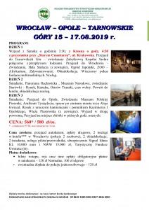 Wrocław Opole Tarnowskie Góry 15-17.08.2019