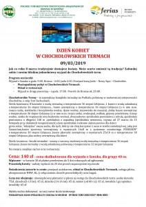 Dzień Kobiet w Chochołowskich Termach 09.03.2019