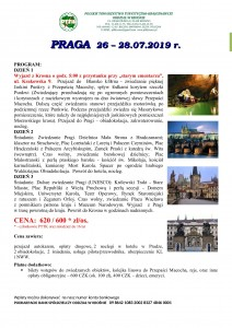 Praga 26-28.07.2019