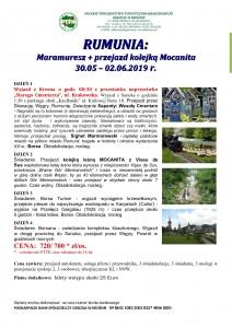 Rumunia Maramuresz 30.05-02.06.2019