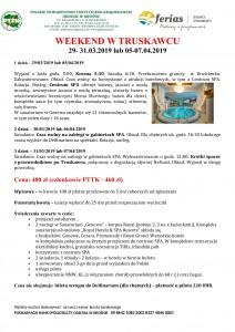 Weekend w Truskawcu 29-31.03 i 05-07.04.2019