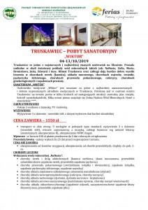 Truskawiec pobyt sanatroyjny Wiktor 4-13.10.19 PIERWSZA STRONA