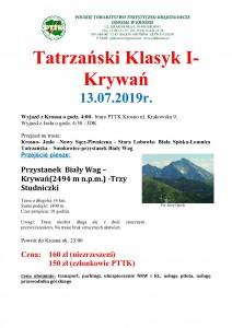 Tatrzański Klasyk I Krywań- 13.07.2019
