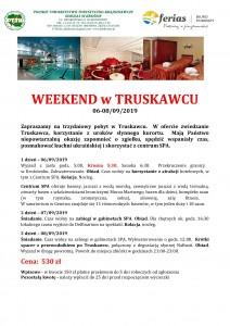 Weekend w Truskawcu 06-08.09.2019 str 1