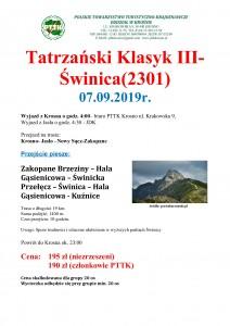 Tatrzański Klasyk III - Świnica 07.09.2019r._str 1