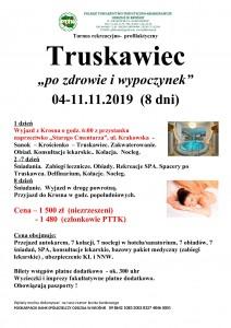 Truskawiec Po zdrowie i wypoczynek 04-11.11.2019r