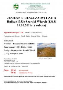 Jesienne Bieszczady III- Halicz 19.10.2019r.