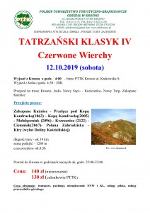Tatrzański Klasyk V Czerwone Wierchy 12.10.2019r. str 1