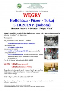 Węgry- Hollohaza - Tokaj 05.10.2019r.