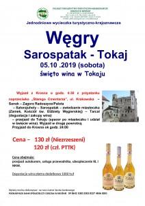 Węgry - Sarospatak Tokaj - Świeto wina 05.10.2019r