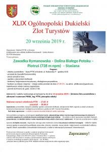XLIX Ogólnopolski Dukielski Zlot - 20.09.19 plakat_000