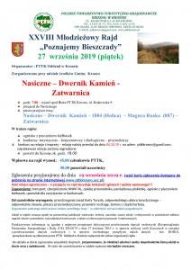 plakat - Rajd Poznajemy Bieszczady 27.09.2019_000