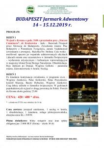 Budapeszt Jarmark Adwentowy 14-15.12.2019r.